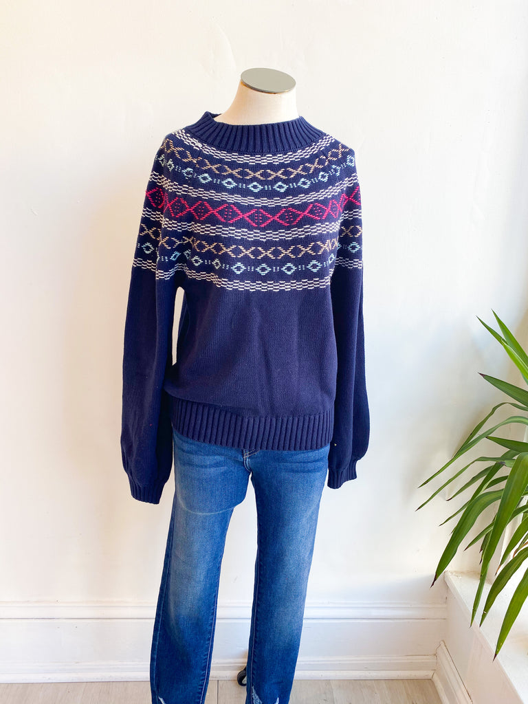 Holiday House Mock Neck Sweater