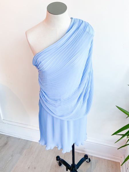 Stop and Stare Pleated Side Dress