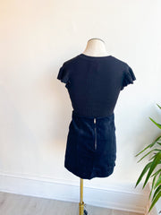 Kerrie Corduroy Mini Skirt - Black