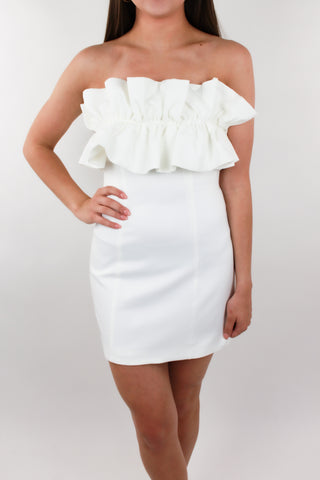 Bouquet Toss Ruffle Dress
