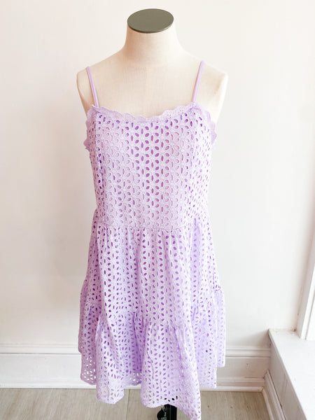 Standout Sleeveless Eyelet Dress