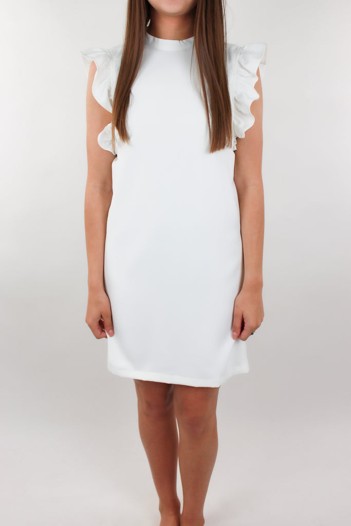 Willa Ruffled Dress - White
