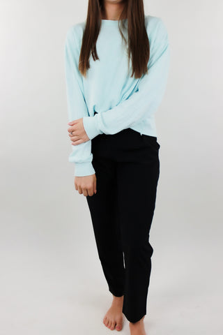 Washed Rawhem Cropped Sweatshirt