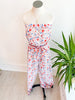 Golden Gate Strapless Jumpsuit-  Red Multi