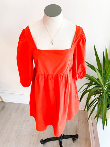 Change of Heart Puff Sleeve Dress
