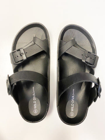 Poolside Birk Slides - Black