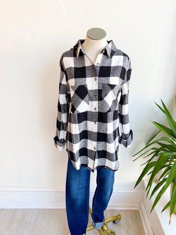 Check it Out Plaid Top