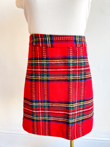 Margie Plaid Skirt