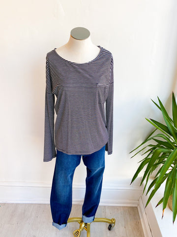 Way Side Stripe Pocket Top