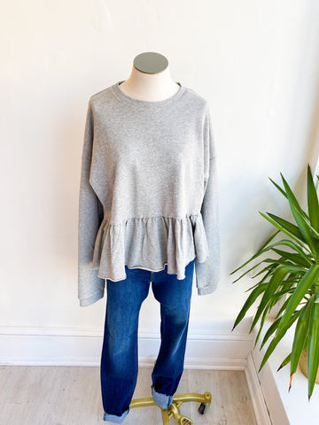 Gregory Peplum Sweatshirt - Grey