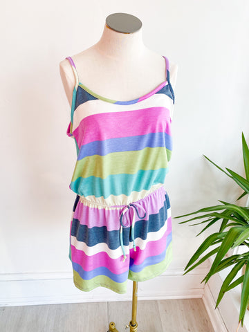 Summer Breeze Striped Romper