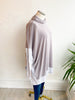 Wind Chill Cape Sweater Top - Grey