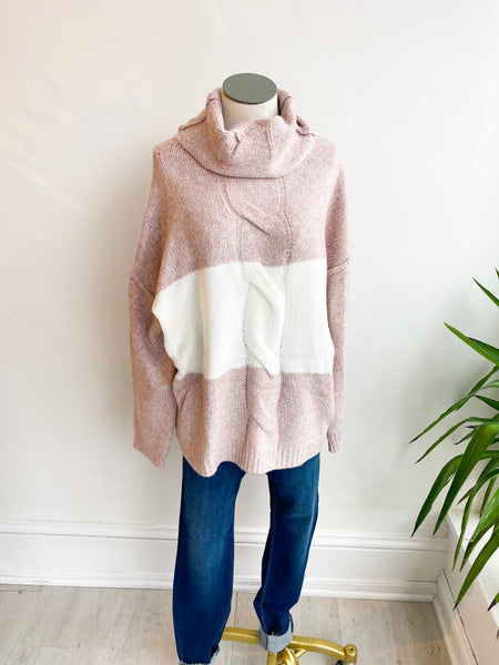 All the Best Colorblock Sweater - Blush