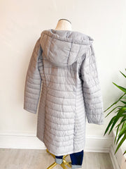 All Winter Long Longline Coat - Grey