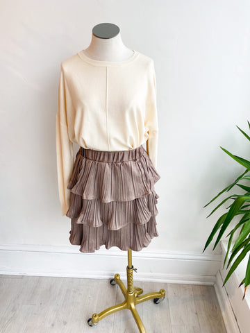 Mission Accomplished Pleated Tiered Skirt