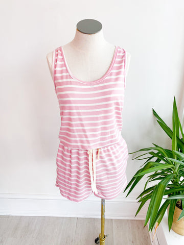 Summer Day Stripe Knit Romper