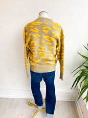 Jillian Leopard Knot Sweater
