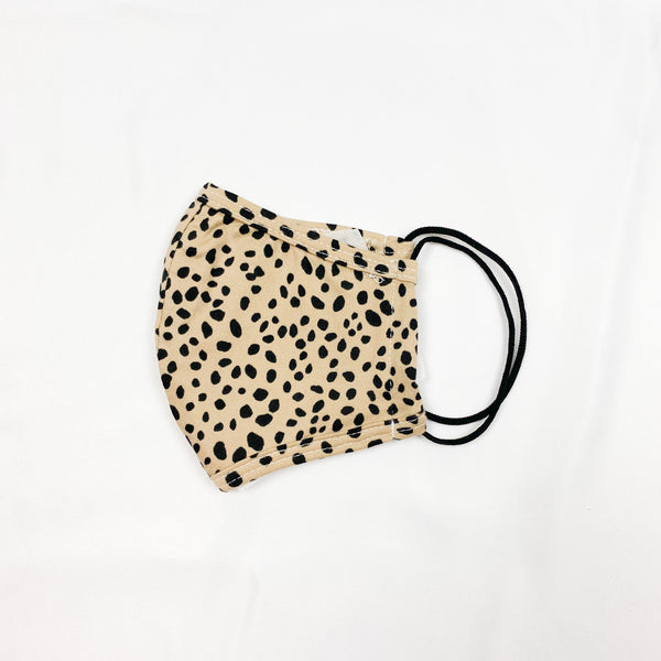 Cotton Print Face Mask - Spotted