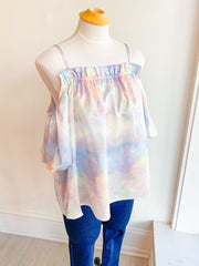 Angel Clouds Balloon Sleeve Top