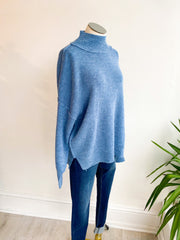 Quinn Boxy Dolman Sleeve Sweater - Teal