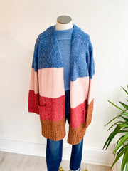 Color My World Colorblock Duster Cardigan