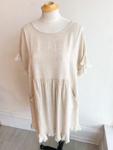 Charlotte Frayed Hem Dress