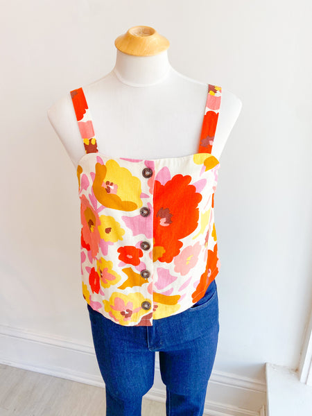 Brady Button Boxy Tank