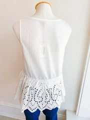 Anyday Now Peplum Eyelet Top