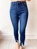Libby Skinny with Hem Bite - Dark Denim