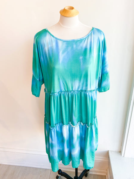 Monsoon Tie Dye Oversized Dress