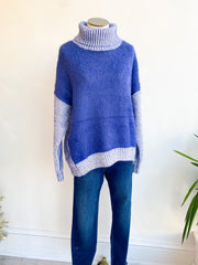 Anastasia Marbeled Turtleneck Sweater