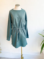 Ready for Spring Drawstring Dress - Green