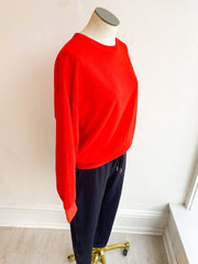 Slumber Days Terry Pullover Sweatshirt - Orange