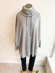 Brushed Two Tone Thermal Top - Grey