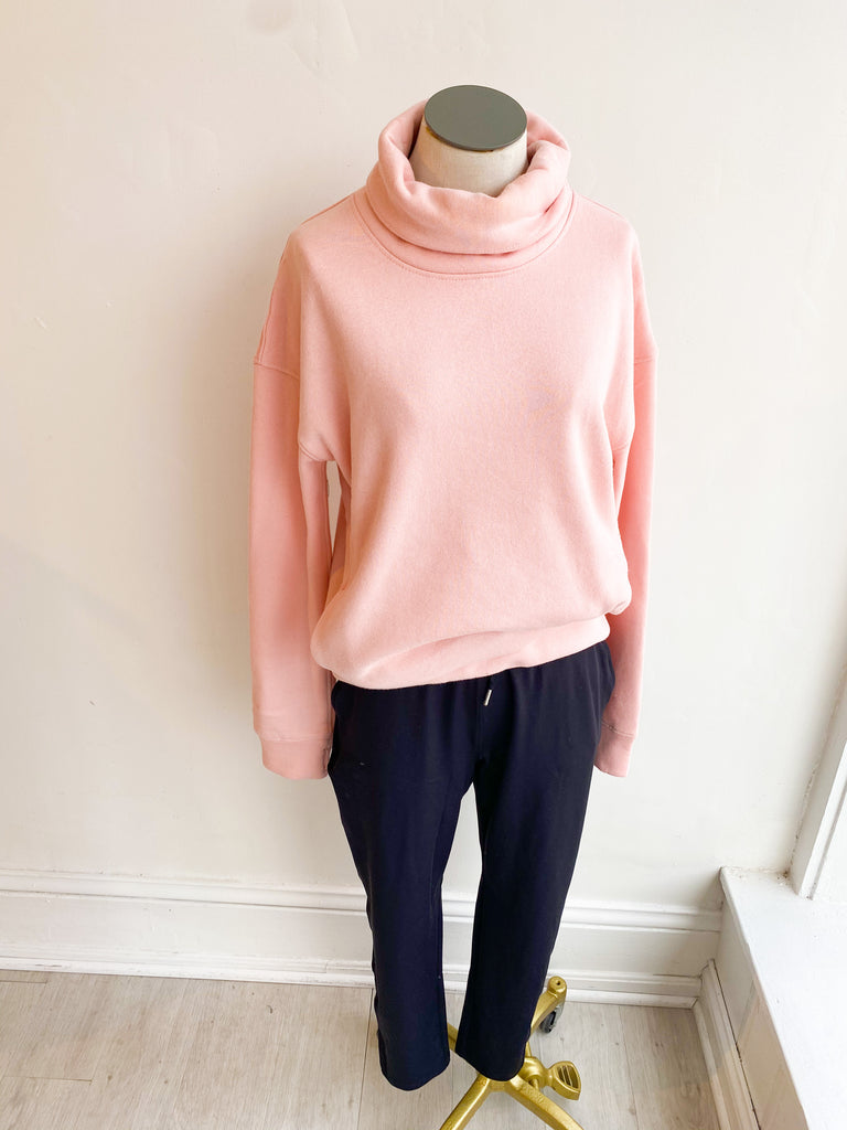 Dudley High Neck Sweatshirt - Blush Pink