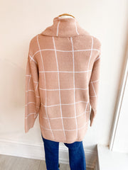 Kiss and Make Up Grid Sweater