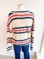 Easy Come, Easy Go Striped Sweater