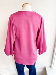 Good Spirits Balloon Sleeve Top - Pink