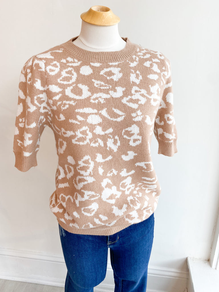 Wild Fall Nights Leopard Sweater Top