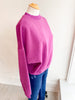 Very Berry Mock Neck Sweatshirt