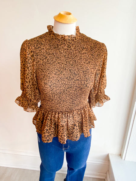 Side by Side Leopard Top