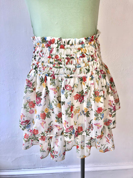 Garden Party Smocked Waist Skirt