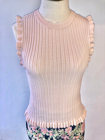 Gifted Pleated Sweater Tank