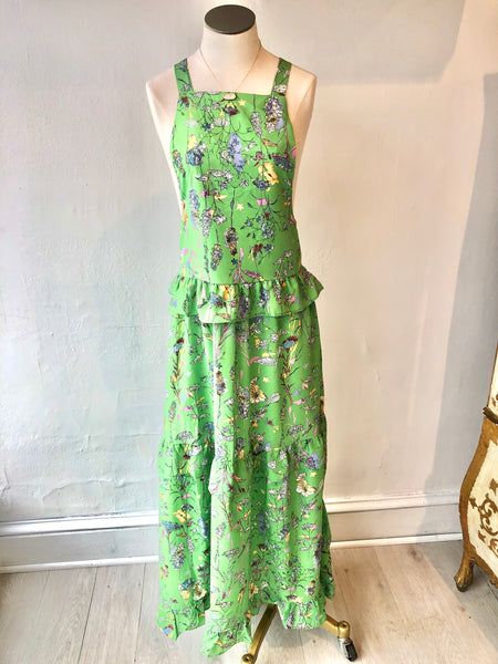 Green Gardens Ruffle Maxi Dress