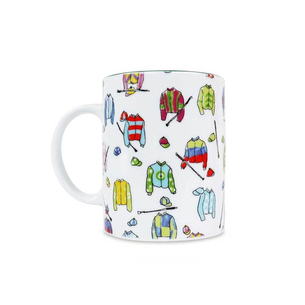 Pomegranate Printed Mug - Jockey Silks