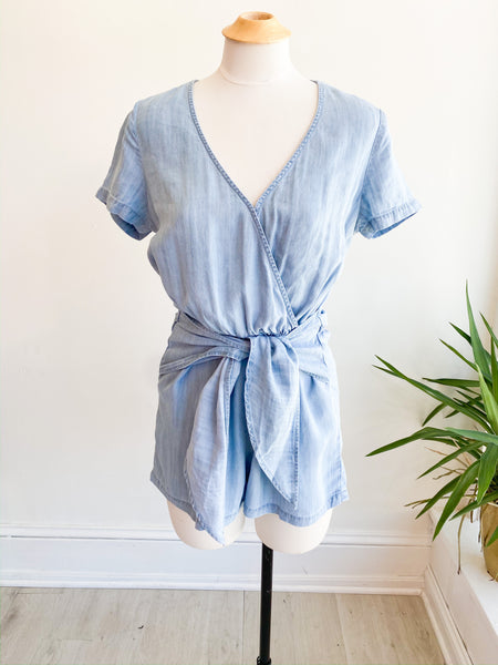 Seas the Day Front Tie Romper