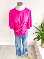 Another One Front Tie Top - Magenta