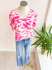 Falling Feathers Puff Sleeve Top