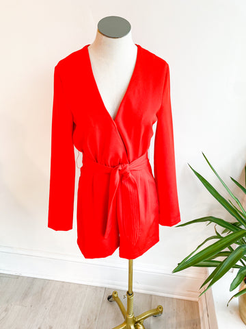 Office Look Tie Romper