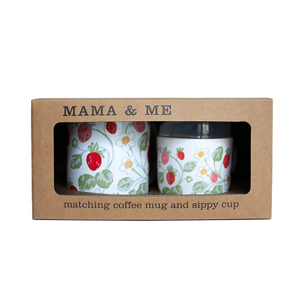 Mama and Me Cup Set - Vintage Strawberry